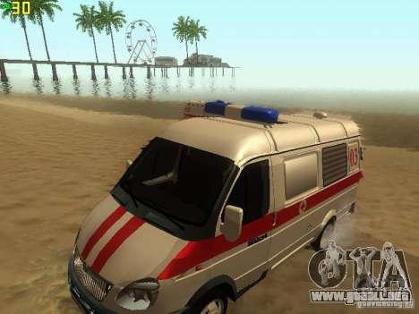 Gacela 32214 ambulancia para la visión correcta GTA San Andreas