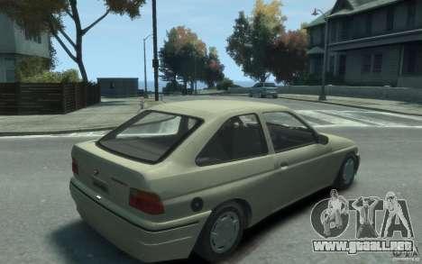 Ford Escort L 1994 para GTA 4 visión correcta