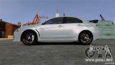 Mitsubishi Lancer Evo X para GTA 4 visión correcta