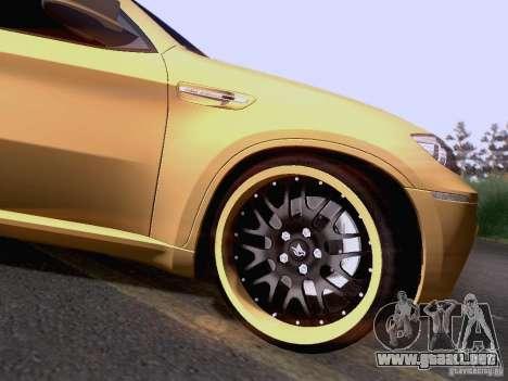 BMW X6M Hamann para vista lateral GTA San Andreas
