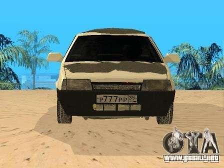 VAZ 21099 invierno para la visión correcta GTA San Andreas
