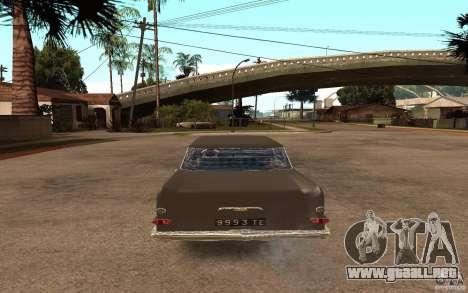 Opel Kapitan para GTA San Andreas vista posterior izquierda