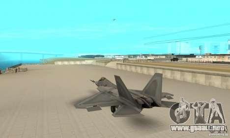 YF-22 Grey para GTA San Andreas vista posterior izquierda