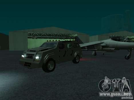 FBI Truck from Fast Five para GTA San Andreas vista posterior izquierda