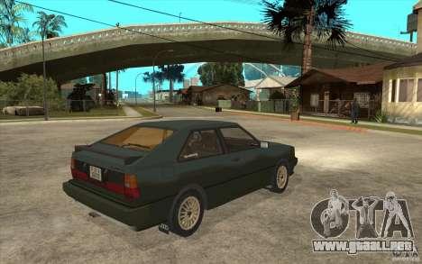 Audi Quattro para la visión correcta GTA San Andreas