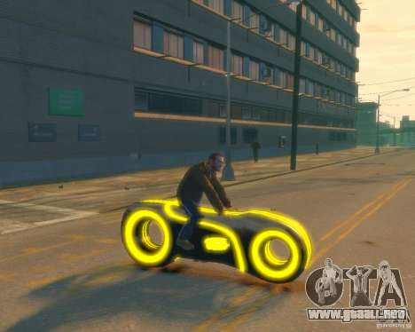 Motocicleta del trono (amarillo neón) para GTA 4 visión correcta