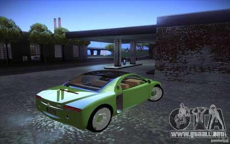 Renault Fiftie Concept para GTA San Andreas vista posterior izquierda
