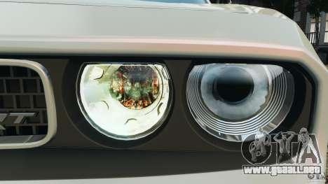 Dodge Challenger SRT8 392 2012 para GTA 4 ruedas