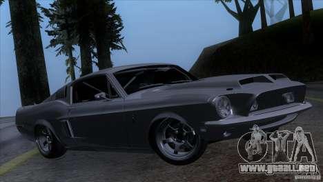 Shelby GT500 1969 para GTA San Andreas vista posterior izquierda