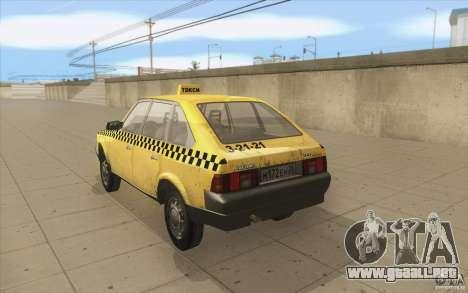 AZLK Moskvich 2141 Taxi v2 para GTA San Andreas vista posterior izquierda