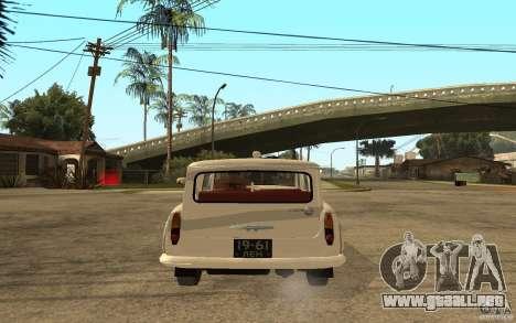 Moskvitch 423 m ambulancia para GTA San Andreas vista posterior izquierda