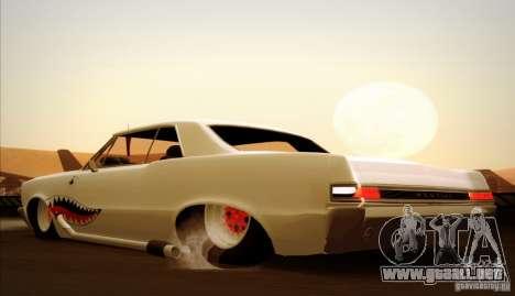 Pontiac GTO Drag Shark para la vista superior GTA San Andreas