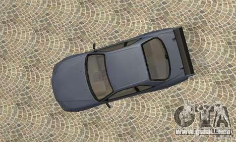 Nissan Skyline R-34 GTR para GTA San Andreas vista hacia atrás