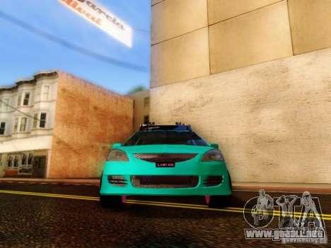 Mitsubishi Lancer para GTA San Andreas vista hacia atrás