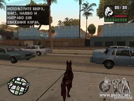 Cerberus de Resident Evil 2 para GTA San Andreas tercera pantalla