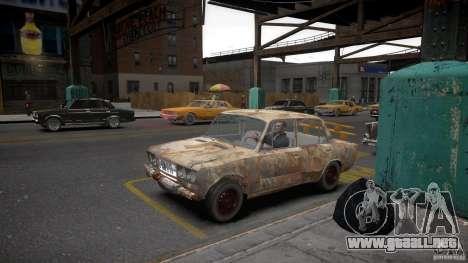 Rusty 2106 VAZ para GTA 4 vista hacia atrás