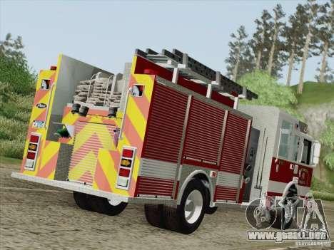 Pierce Pumpers. San Francisco Fire Departament para la visión correcta GTA San Andreas