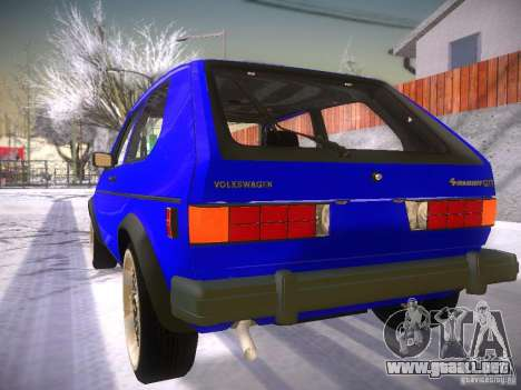 Volkswagen Rabbit GTI para GTA San Andreas left
