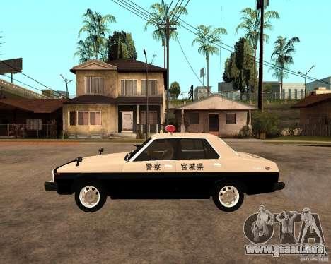 Nissan Skyline 2000 GT Police para GTA San Andreas left