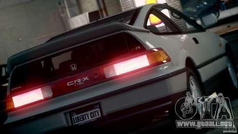Honda CR-X SiR 1991 para GTA 4 visión correcta
