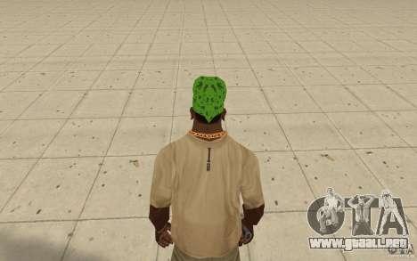 Pañuelo verde maryshuana para GTA San Andreas tercera pantalla