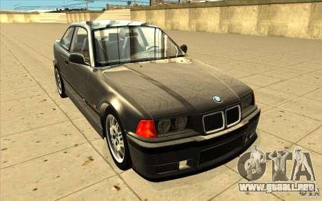 BMW E36 M3 - Stock para GTA San Andreas vista hacia atrás