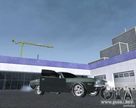 Dodge Challenger V1.0 para GTA San Andreas vista posterior izquierda