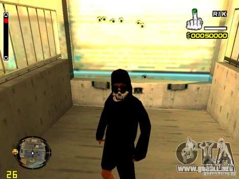 Piel vago v7 para GTA San Andreas sucesivamente de pantalla