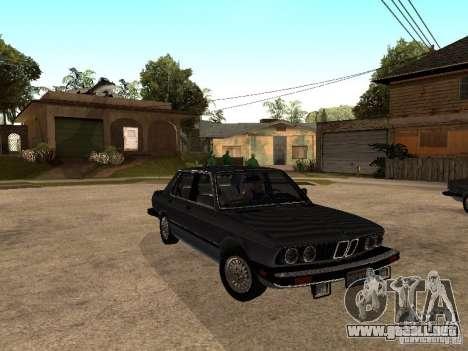 BMW 535is E28 para visión interna GTA San Andreas