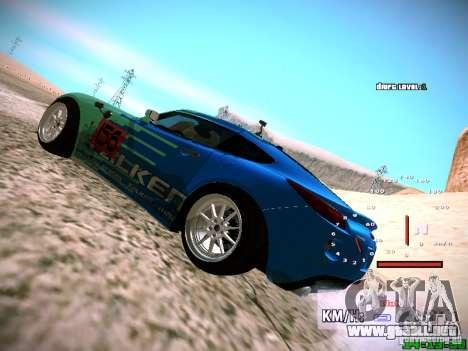 Pontiac Solstice Falken Tire para GTA San Andreas vista hacia atrás