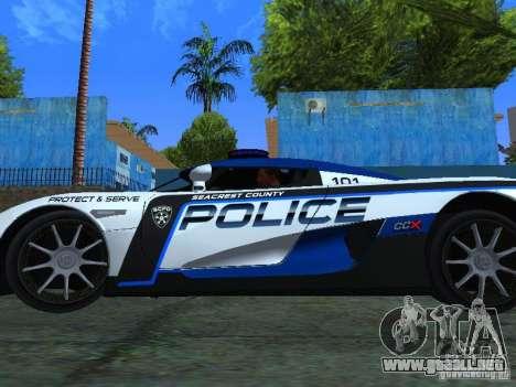 Koenigsegg CCX Police para la visión correcta GTA San Andreas