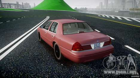Ford Crown Victoria 2003 v.2 Civil para GTA 4 Vista posterior izquierda