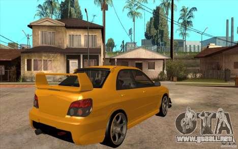 Subaru Impreza 2006 WRX STI para la visión correcta GTA San Andreas