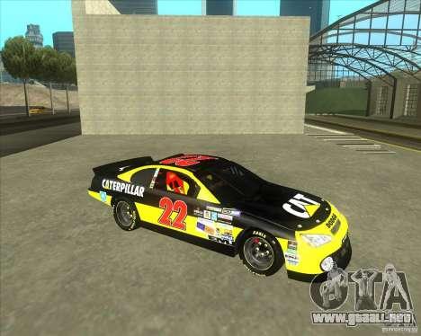 Dodge Nascar Caterpillar para GTA San Andreas left