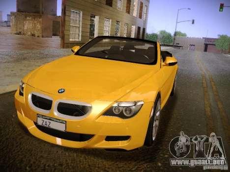 BMW M6 para la visión correcta GTA San Andreas