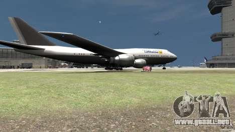 Lufthansa MOD para GTA 4 Vista posterior izquierda