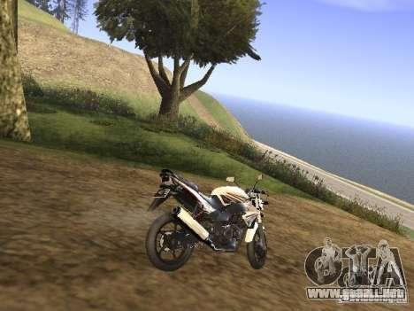 Yamaha V-Ixion para GTA San Andreas vista posterior izquierda