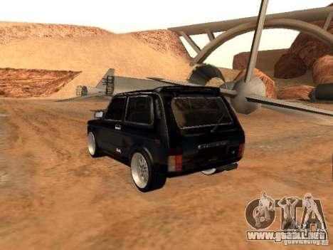 VAZ 2121 Tuning para GTA San Andreas vista hacia atrás