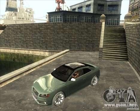 Audi S5 V8 custom 2008 para GTA San Andreas vista posterior izquierda