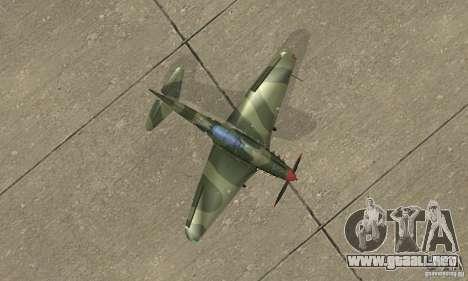 Yak-9 durante la II Guerra Mundial para la visión correcta GTA San Andreas