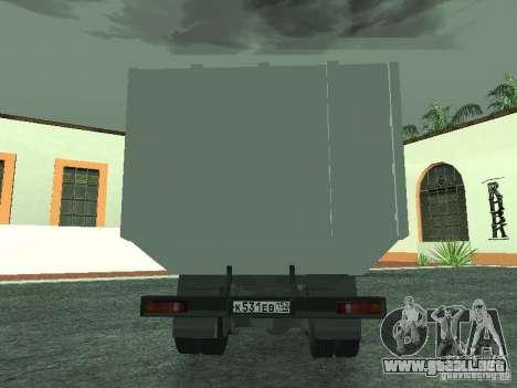 Camión de basura 53215 KAMAZ para la visión correcta GTA San Andreas