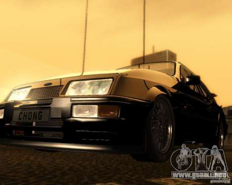 Ford Sierra RS500 Cosworth 1987 para GTA San Andreas left