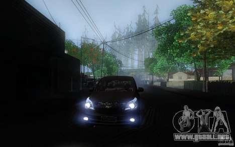 Chevrolet Agile 2012 para GTA San Andreas vista hacia atrás