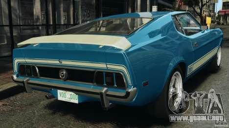 Ford Mustang Mach I 1973 para GTA 4 Vista posterior izquierda