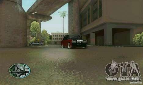 VAZ 2107 coche Tuning para vista lateral GTA San Andreas
