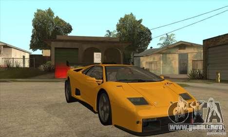 Lamborghini Diablo GT-R para GTA San Andreas vista hacia atrás
