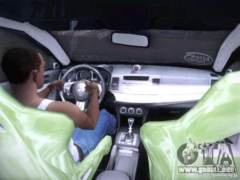 Mitsubishi Lancer Evolution X - Tuning para GTA San Andreas vista hacia atrás