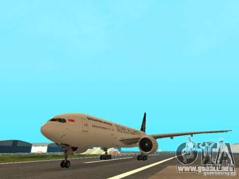 Boeing 777-200 Singapore Airlines para GTA San Andreas