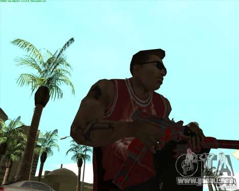 Blood Weapons Pack para GTA San Andreas séptima pantalla