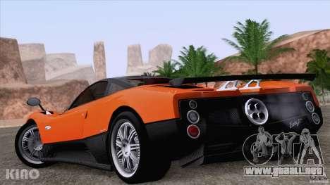 Pagani Zonda F para el motor de GTA San Andreas